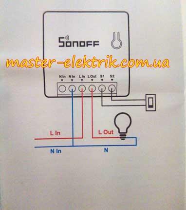 Схема подключения Sonoff WIFI MINI